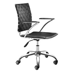 Zuo Modern Criss Cross Office Chair Black