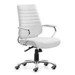 Zuo Modern Enterprise Low Back Office Chair White