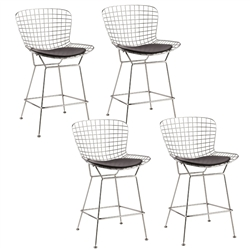 Fine Mod Imports Bertoia Wire Style Counter Stool Chair Set Of 4