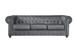 Fine Mod Imports Chestfield Aristocrat Sofa in Black Leather