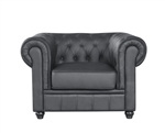 Fine Mod Imports Chestfield Aristocrat Chair Black Leather