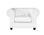 Fine Mod Imports Chestfield Aristocrat Chair White Leather