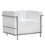 Fine Mod Imports LC3 Grand Armchair In White Leather