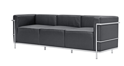 Fine Mod Imports LC3 Grand Sofa In Black Leather