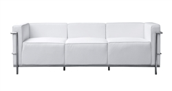 Fine Mod Imports LC3 Grand Sofa In White Leather