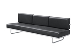 Fine Mod Imports LC5 Sofa in Black Leather