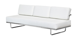 Fine Mod Imports LC5 Sofa in White Leather