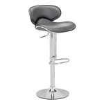 Zuo Modern Fly Bar Chair Gray