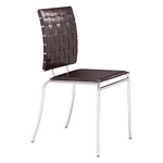Zuo Modern Criss Cross Dining Chair Espresso