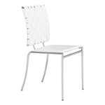 Zuo Modern Criss Cross Dining Chair White