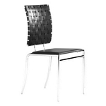 Zuo Modern Criss Cross Dining Chair Black