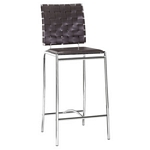 Zuo Modern Criss Cross Counter Chair Espresso