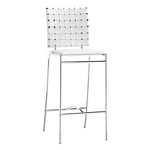 Zuo Modern Criss Cross Counter Chair White