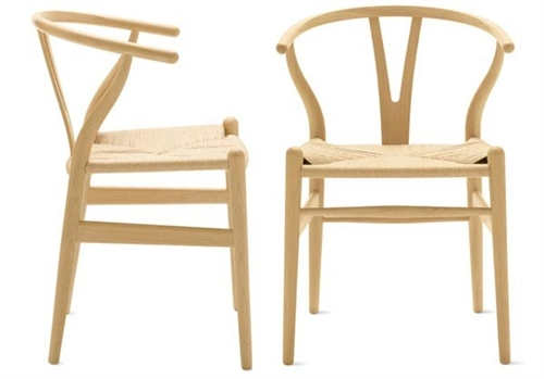Hans Wegner Wishbone Chair Set Of 2