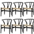Fine Mod Imports Hans Wegner Wishbone Chair Set Of 6