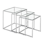 Zuo Modern Pasos Nesting Table Clear Glass