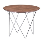 Zuo Modern Macho Side Table Walnut