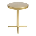 Zuo Modern Derby Accent Table Brass
