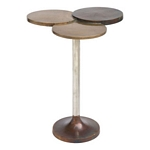Zuo Modern Dundee Accent Table Antique Brass