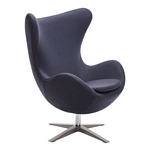 Zuo Modern Skien Arm Chair Iron Gray