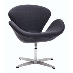 Zuo Modern Pori Arm Chair Iron Gray