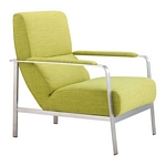 Zuo Modern Jonkoping Arm Chair Lime