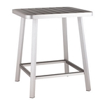 Zuo Modern Megapolis Bar Table Brushed Aluminum
