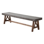 Zuo Modern Ford Bench Cement & Natural