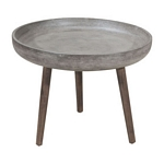 Zuo Modern Brother Side Table Cement&Natural