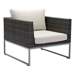 Zuo Modern Malibu Arm Chair Brown & Beige