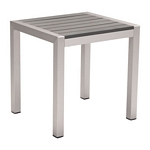Zuo Modern Cosmopolitan Side Table B. Aluminum