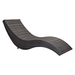 Zuo Modern Hassleholtz Beach Chaise Lounge Brown