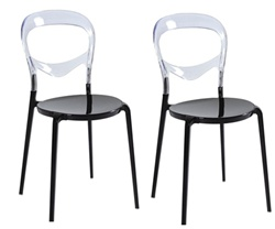 Fine Mod Imports Evo Acrylic Dining Side Chair Set Of 2
