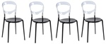 Fine Mod Imports Evo Acrylic Dining Side Chair Set Of 4