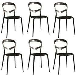Fine Mod Imports Evo Acrylic Dining Side Chair Set Of 6