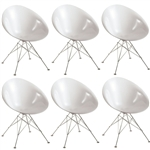 Fine Mod Imports Eco Wirebase Dining Chair Set of 6