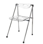 Fine Mod Imports Acrylic Telescoping Folding Chair