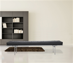 Fine Mod Imports PK80 Bench inspired by Poul Kjaerholm In Black Leather