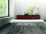 Fine Mod Imports PK80 Bench inspired by Poul Kjaerholm In White Leather