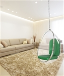 Fine Mod Imports Eero Aarnio Style Balloon Hanging Chair Green Cushion