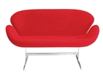 Fine Mod Imports Arne Jacobsen Swan Sofa In Red Wool