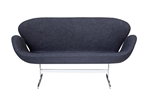 Fine Mod Imports Arne Jacobsen Swan Sofa In Black Wool