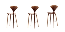 Fine Mod Imports Normen Chair Modern Wooden Bar Stool Set of 3