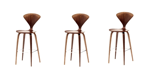 Normen Chair Modern Wooden Counter Stool Set Of 3
