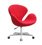 Fine Mod Imports Arne Jacobsen Swan Chair In Wool with Casters