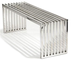 Fine Mod Imports Zeta Stainless Steel Bench Long