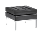 Fine Mod Imports Florence Style Modern Upholstered Ottoman in Genuine Leather