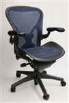 Herman Miller Aeron Chair In Cobalt Blue W/Posturefit