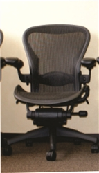 Herman Miller Aeron Chair Size B Fully Featured In Gray