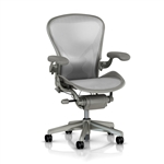 Herman Miller Aeron Chair Size B In Gray Loaded